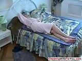 Long hair Russian in the bedroom