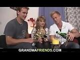 Two fellows pick up and fuck hot grandma