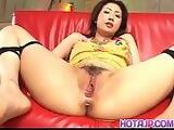 Hatsumi Kudo has sex toys on and in vagina